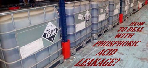 How to deal with phosphoric acid leakage?